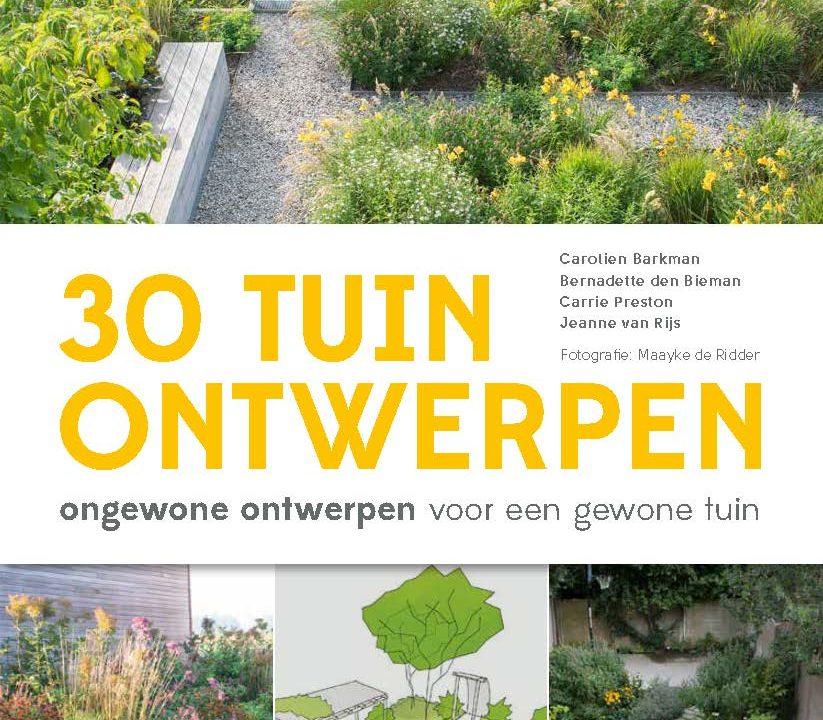 Omslag van het boek 30 tuinontwerpen